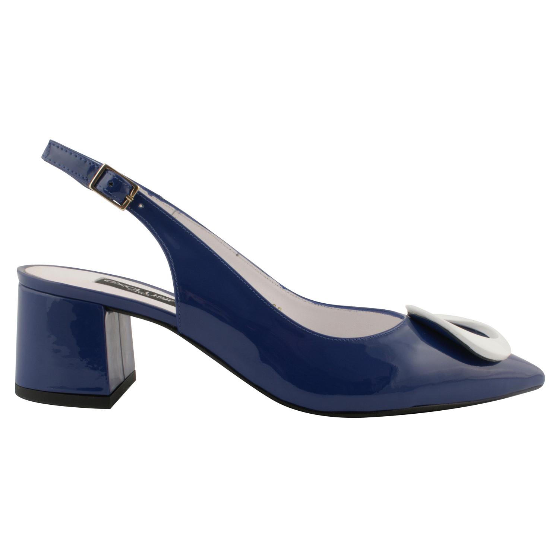 Capucine Bleu En Vernis Cuir Retro Chaussures Femme Exclusif PXkiwZuTO