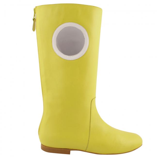 Chaussures-retro-femme-molly-cuir-jaune