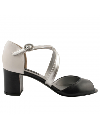 Sandales-femme-talon-carré-adele-cuir-marine-argent
