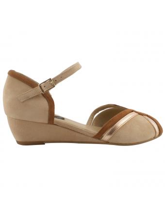 Sandale-talon-compensé-Juliette-nubuck-cuir-nude