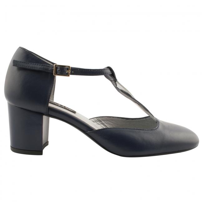 Chaussures-retro-femme-cuir-bleu-louise