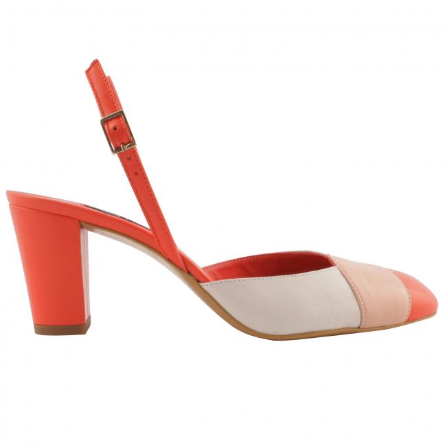 Chaussures-retro-femme-cuir-corail-azzura