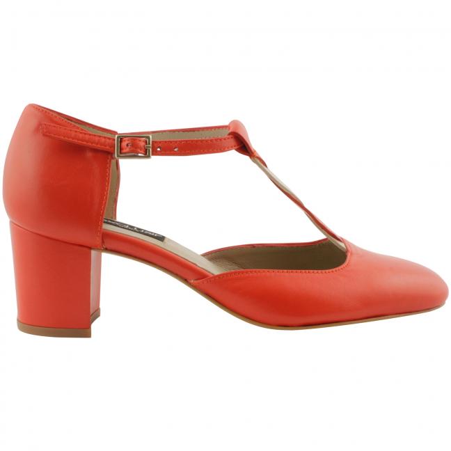 Chaussures-retro-femme-cuir-corail-louise