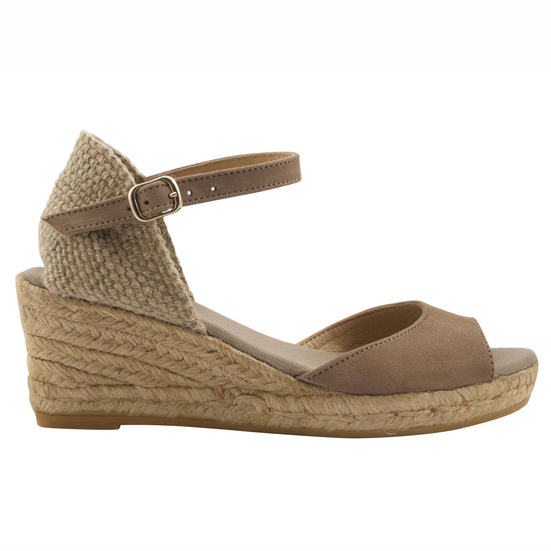 Exclusif Paris Espadrilles Llivia Taupe - Chaussures Espadrilles Femme