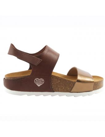Sandale-femme-ete-cuir-marron-or-tala