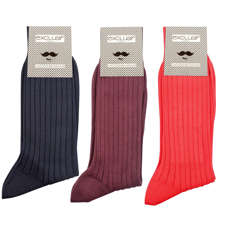 chaussettes fil d cosse homme par lot de diff rentes couleurs. Black Bedroom Furniture Sets. Home Design Ideas