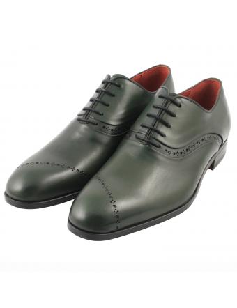Chaussure-richelieu-cuir-vert-nelson