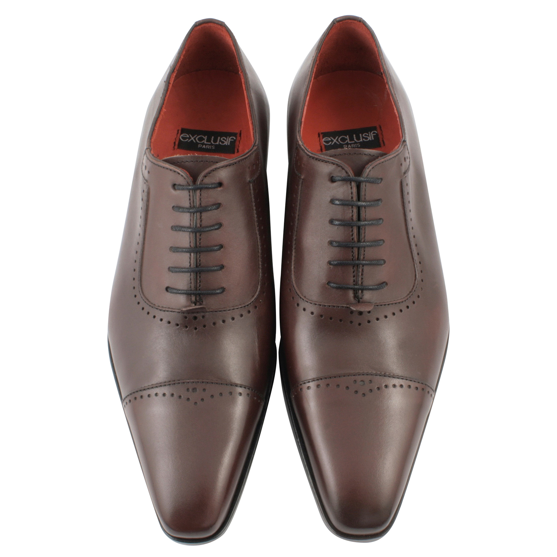 9e43306e977d Chaussure homme luxe Isidore en cuir bordeaux - Exclusif