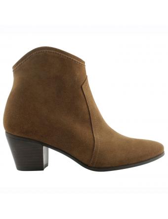 boots-femme-cuir-Quesal-nubuck-gold