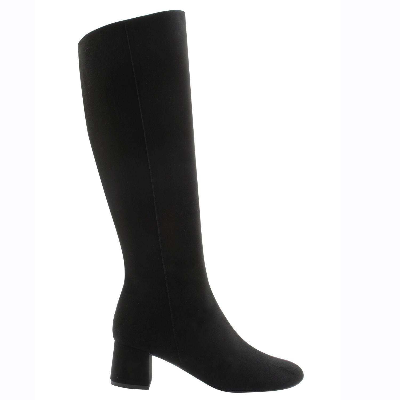 remise spéciale de économiser jusqu'à 60% chaussures de course Bottes femme mollet fin Karlie en nubuck noir de qualité ...
