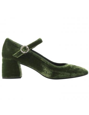 Chaussures-velours-vert-Ludivine